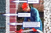 Утепление стен дома пенопластовой крошкой в Краснодарском крае.